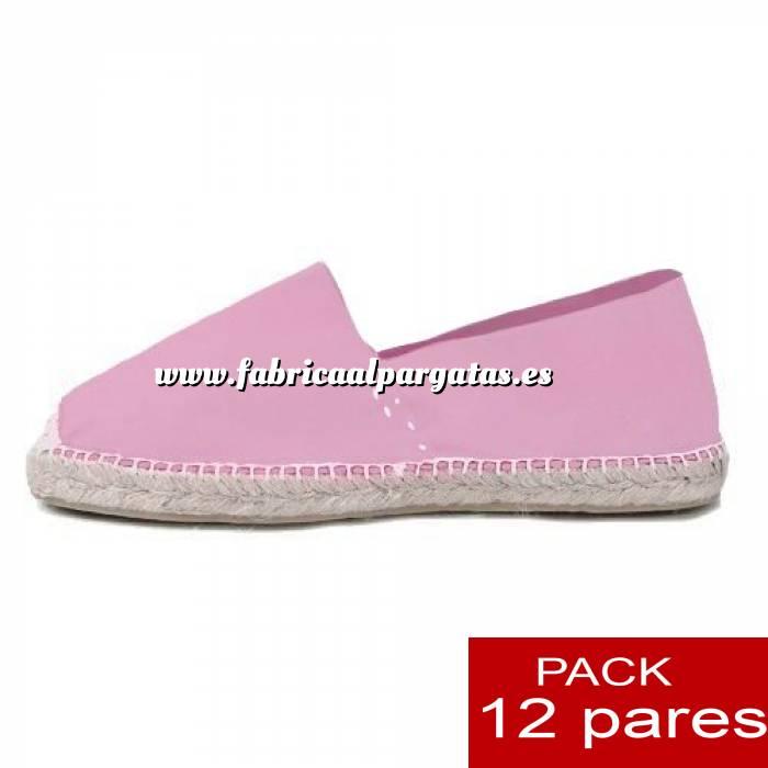 Imagen Mujer Colores Lisos Alpargatas cerradas MUJER color ROSA - caja 12 pares (Últimas Unidades)