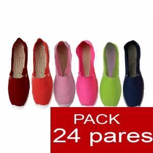 Imagen Mujer Colores Lisos Alpargatas Boda MUJER Surtidas en colores y tallas - Caja 24 pares