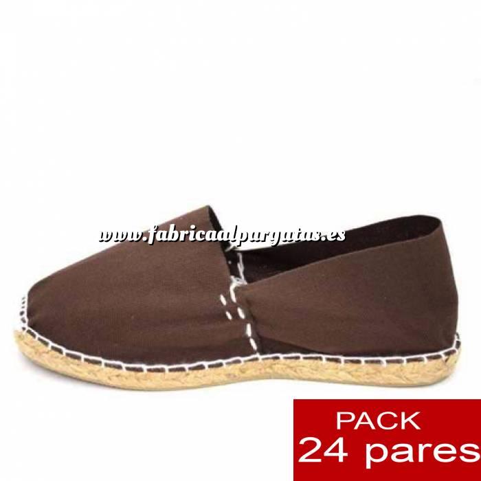 Imagen Para Hombres Alpargatas cerradas HOMBRE color MARRON CHOCOLATE Tallaje 40-46 -caja 24 pares (TIENDA)