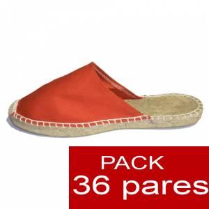 Hombre Abiertas - Alpargatas Abiertas hombre color naranja caja 36 pares (Últimas Unidades)