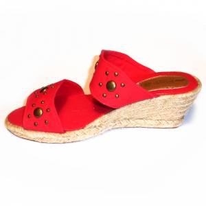 Rojo - VALREM Y104511-S Alpargata Remaches Rojo Talla 39