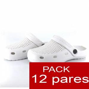 Zuecos tipo Crocs , Zuecos tipo Crocs MUJER , Blanco , CAJA DE 12 UDS (